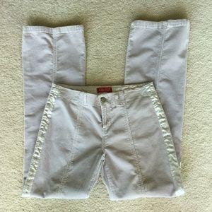 Bluish Gray Corduroy Jeans Satin Side Strip Size 7